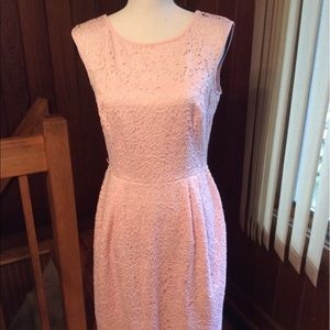 White House Black Market Pink Lace Dress
